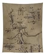 Antique Dental Chair Patent Tapestry