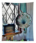 Antique Edison Phonograph In The Boardwalk Plaza Lobby - Rehoboth Beach Delaware Tapestry