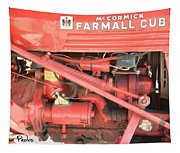 Antique Farmall Cub Engine Tapestry