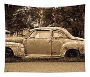 Antique Ford Car Sepia 1 Tapestry
