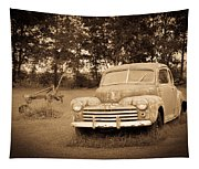 Antique Ford Car Sepia 2 Tapestry