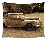 Antique Ford Car Sepia 4 Tapestry