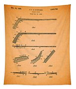 Antique Hockey Stick Patent 1935 Tapestry