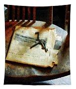 Antique Keys On Newspaper Tapestry