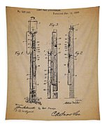 Antique Lamp Post Attachment Patent Tapestry