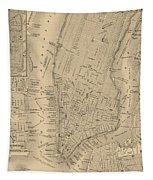 Antique Manhattan Map Tapestry