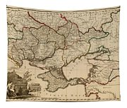Antique Map Of The Russian Empire In Russian 1800 Tapestry