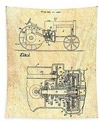 Antique Massey-ferguson Tractor Patent 1935 Tapestry