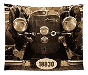Antique Mercedes Benz In Sepia Tapestry