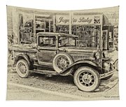 Antique Pickup Truck Tapestry