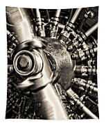 Antique Plane Engine Tapestry