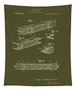 Antique Railroad Tie Patent 1915 Tapestry