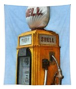 Antique Shell Gas Pump Tapestry