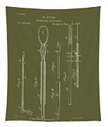 Antique Veterinary Instrument Patent 1888 Tapestry