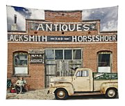 Antiques Blacksmith And Horseshoer Tapestry