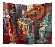 Apothecary - A Series Of Bottles Tapestry