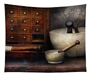 Apothecary - Pestle And Drawers Tapestry
