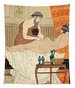 Application Of White Egyptian Perfume To The Hip Tapestry