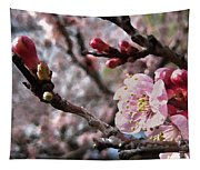 Apricot Floral Tapestry