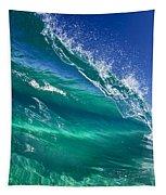 Aqua Blade Tapestry by Sean Davey