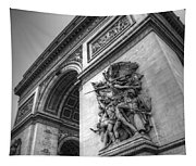Arc De Triomphe In Black And White Tapestry