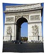 Arc De Triomphe In Paris France Tapestry