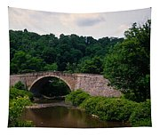 Arch Bridge Across Casselman River Tapestry