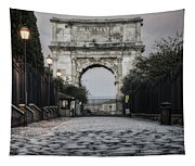 Arch Of Titus Morning Glow Tapestry