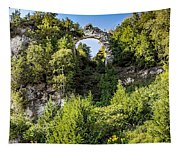 Arch Rock Mackinac Island Michigan Tapestry