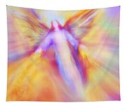 Archangel Uriel In Flight Tapestry