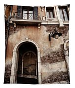 Arched Passage In Old Rustic Venetian House Tapestry