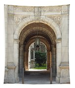 Archway To Courtyard Tapestry