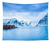 Arctic Dawn Lofoten Islands Tapestry