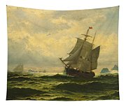 Arctic Whalers Homeward Bound Tapestry