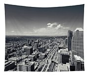 Arial View Of Calgary Facing West Tapestry