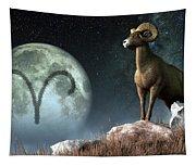 Aries Zodiac Symbol Tapestry