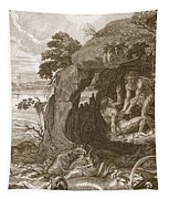 Aristeus Compels Proteus To Reveal Tapestry
