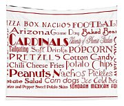 Arizona Cardinals Game Day Food 3 Tapestry
