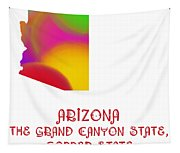 Arizona State Map Collection 2 Tapestry