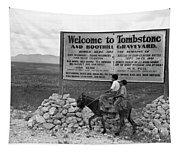 Arizona Tombstone, 1937 Tapestry