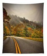 Around The Bend Clouds Along The Blue Ridge Parkway Tapestry