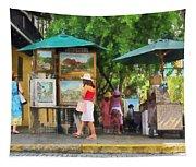 Art Show In San Juan Tapestry
