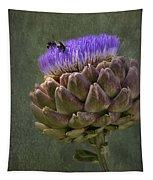 Artichoke Bloom And Bee Dip Tapestry