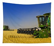 Artists Choice Two Combine Harvesters Tapestry