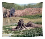 Asian Elephants - In Support Of Boon Lott's Elephant Sanctuary Tapestry