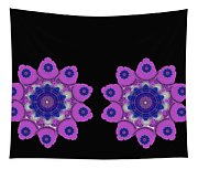 Asian Purple Orchids Tapestry