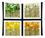 Aspen Colorado Abstract Square 4 In 1 Collection Tapestry