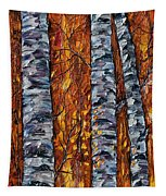 White Trees  Original Oil Painting  Tapestry