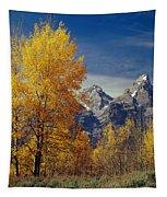 1m9353-aspens In Autumn And The Teton Range - V Tapestry