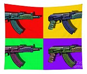 Assault Rifle Pop Art Four - 20130120 Tapestry